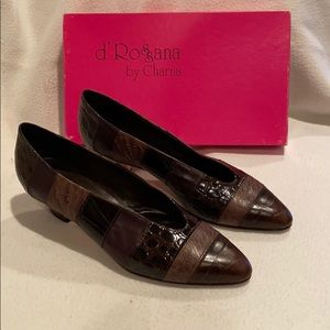 D'Rossana by Charna vintage Vitello brown pumps